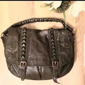 Liebeskind berlin black leather studded handbag